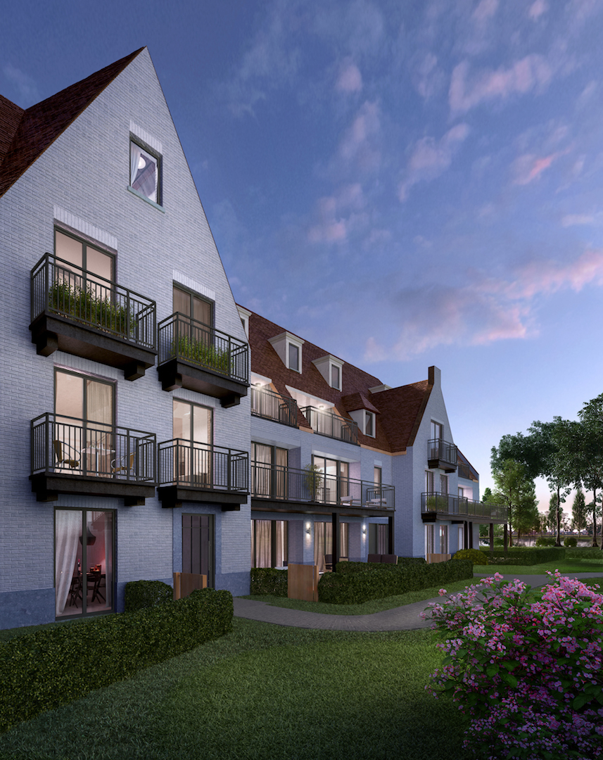 Vente Appartement 2 CH Knokke-Heist - Appartement de coin Duinenwater / Lakefront