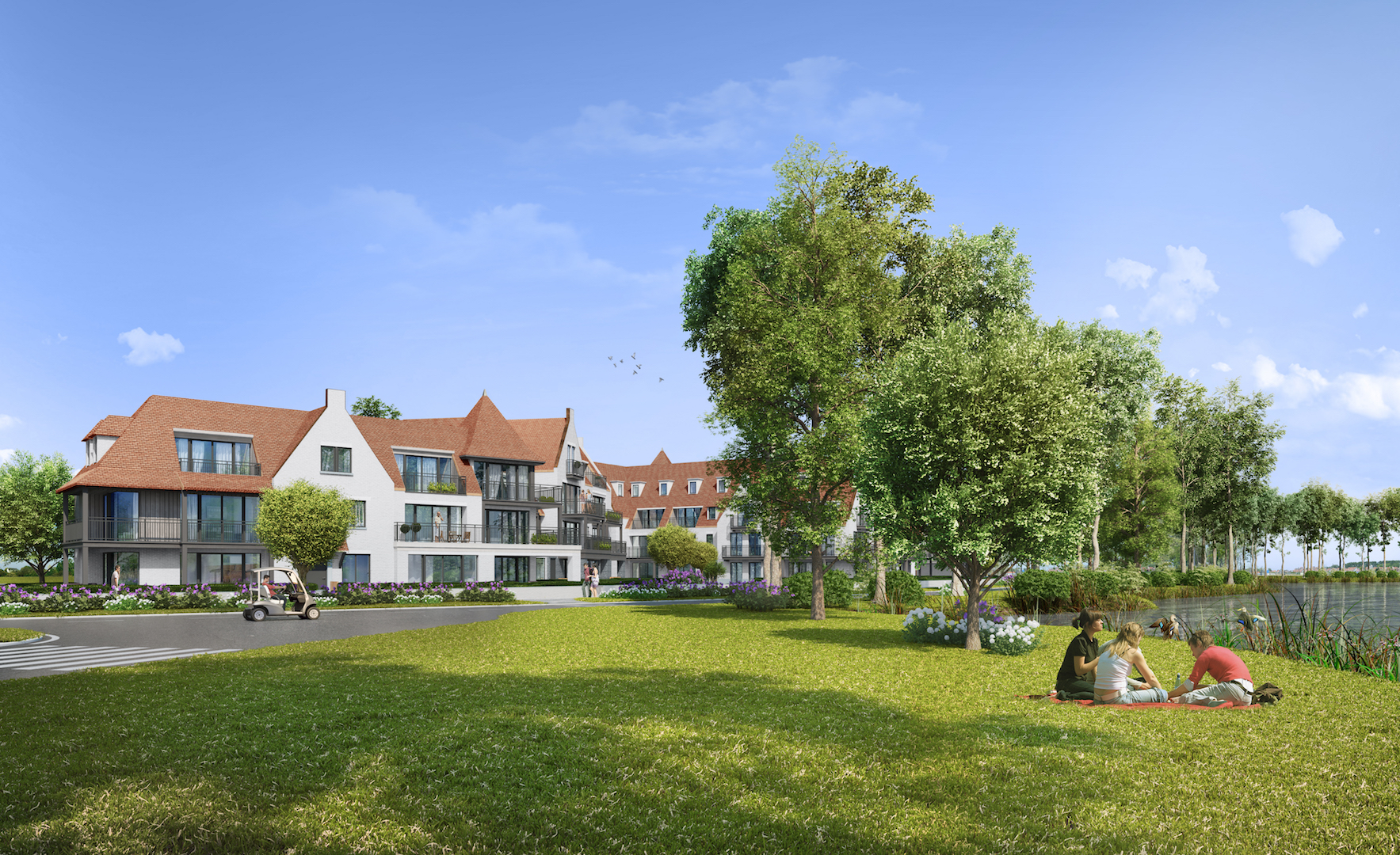 Vente Appartement 2 CH Knokke-Heist - Appartement de coin Duinenwater / Lake Front