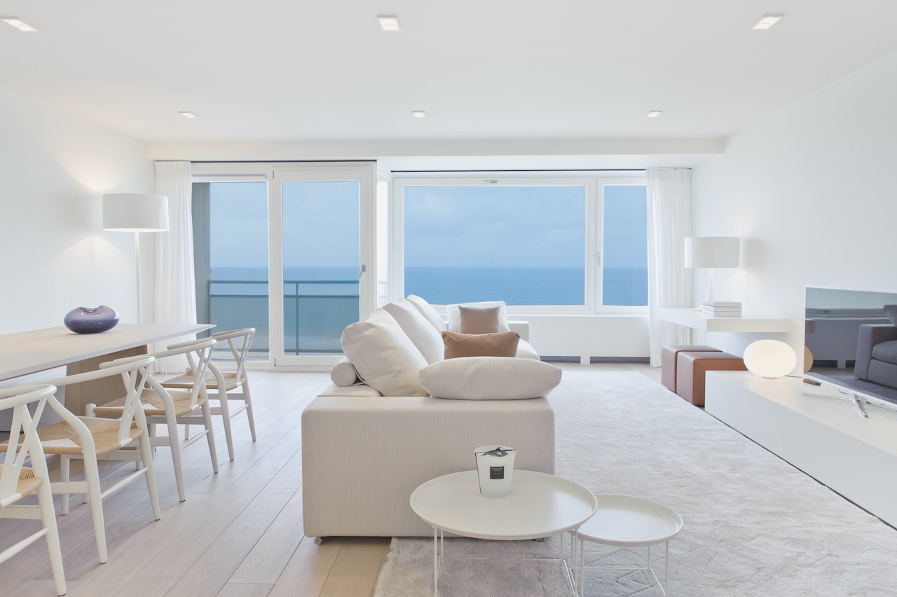 Ventes appartement t3 f3 knokke zoute frontaal zeezicht for Appartement agence