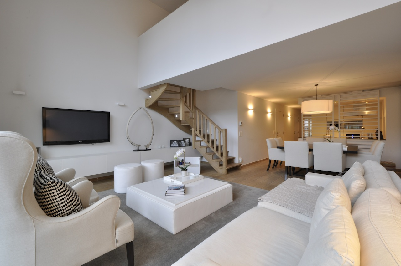 Ventes appartement t4 f4 knokke heist mezzanine prestigieus vastgoedkantoor gevestigd in - Mezzanine woonkamer ...