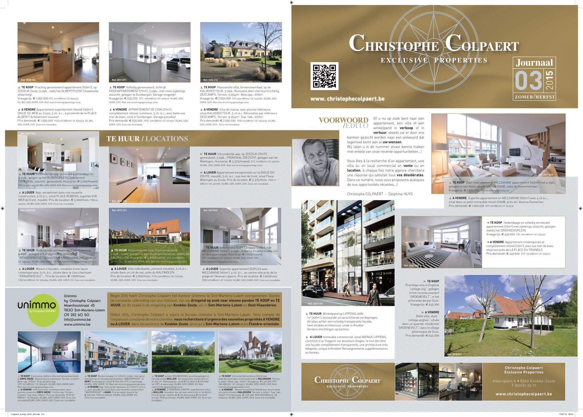 Christophe COLPAERT Exclusive Properties - Journal ETE 2015