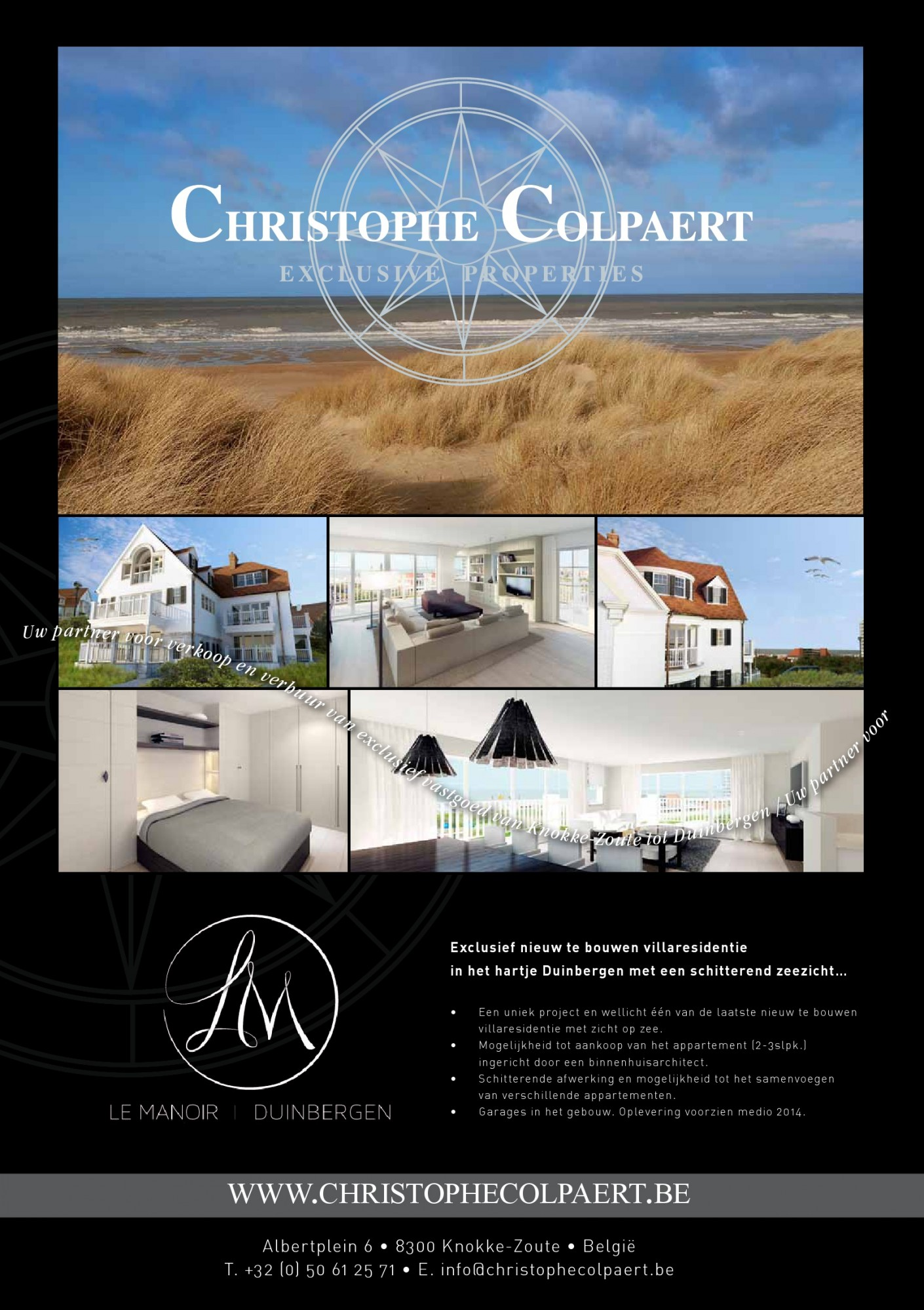 Parution KNOKKE ACTUEEL - MAGAZINE - Christophe Colpaert Exclusive Properties